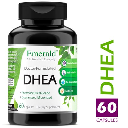 Emerald Laboratories (Ultra Botanicals) - DHEA 50 mg - Helps Balance Hormone Levels for Men & Women, Cognitive Function Support, Increase Metabolism, & Promotes Lean Body Mass - 60