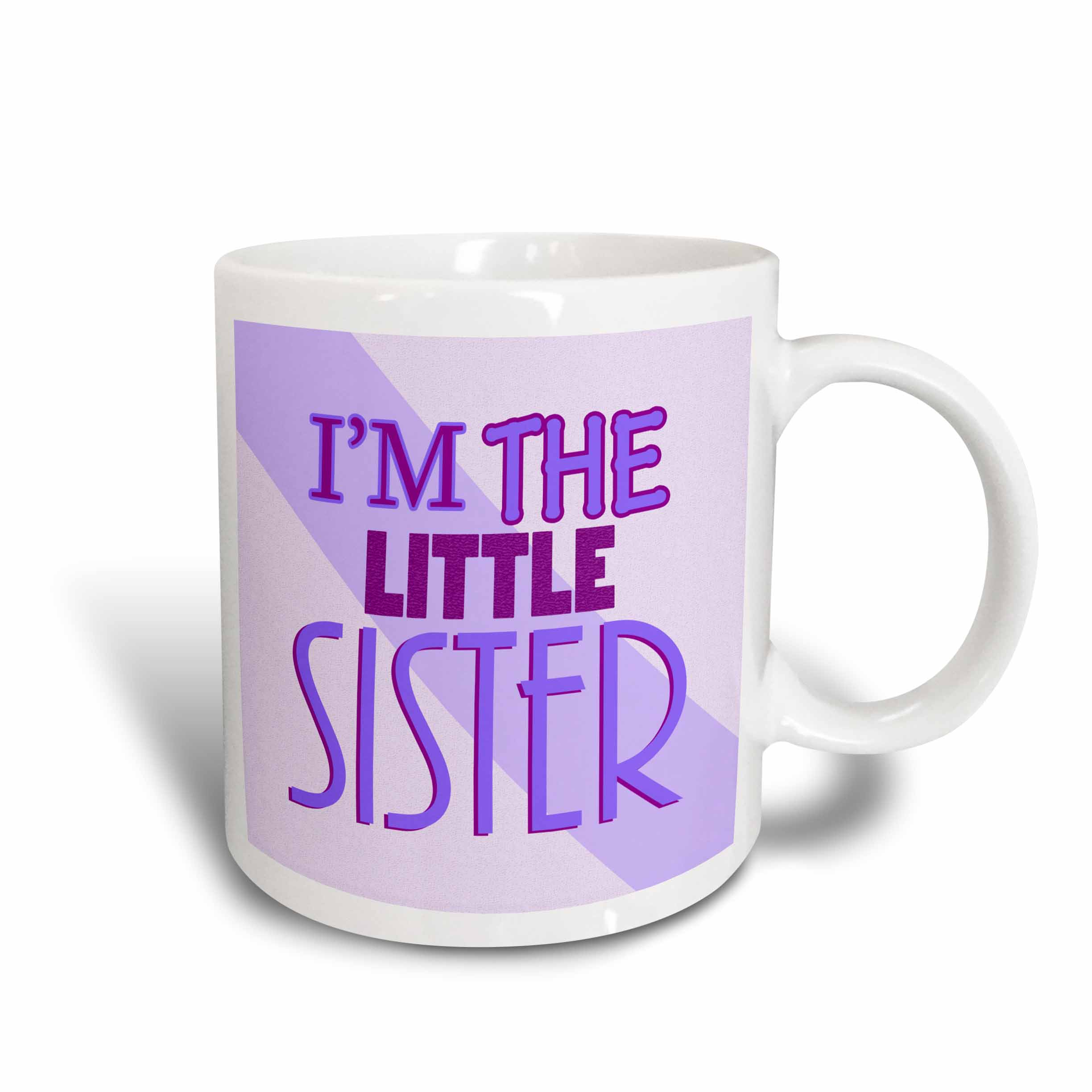 3dRose Im the Little Sister Purple, Ceramic Mug, 11-ounce