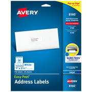 "Avery Easy Peel Address Labels, 1"" x 2-5/8"", 750 Labels (8160)"