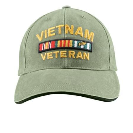 Vietnam Veteran Vintage Deluxe Low Profile Baseball Cap, Olive Drab