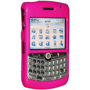 Premium Polished Hot Pink Snap On Hard Shell Case for BlackBerry 8300, BlackBerry 8320, BlackBerry 8330, BlackBerry 8300 curve, BlackBerry (8310 Curve Mobile)