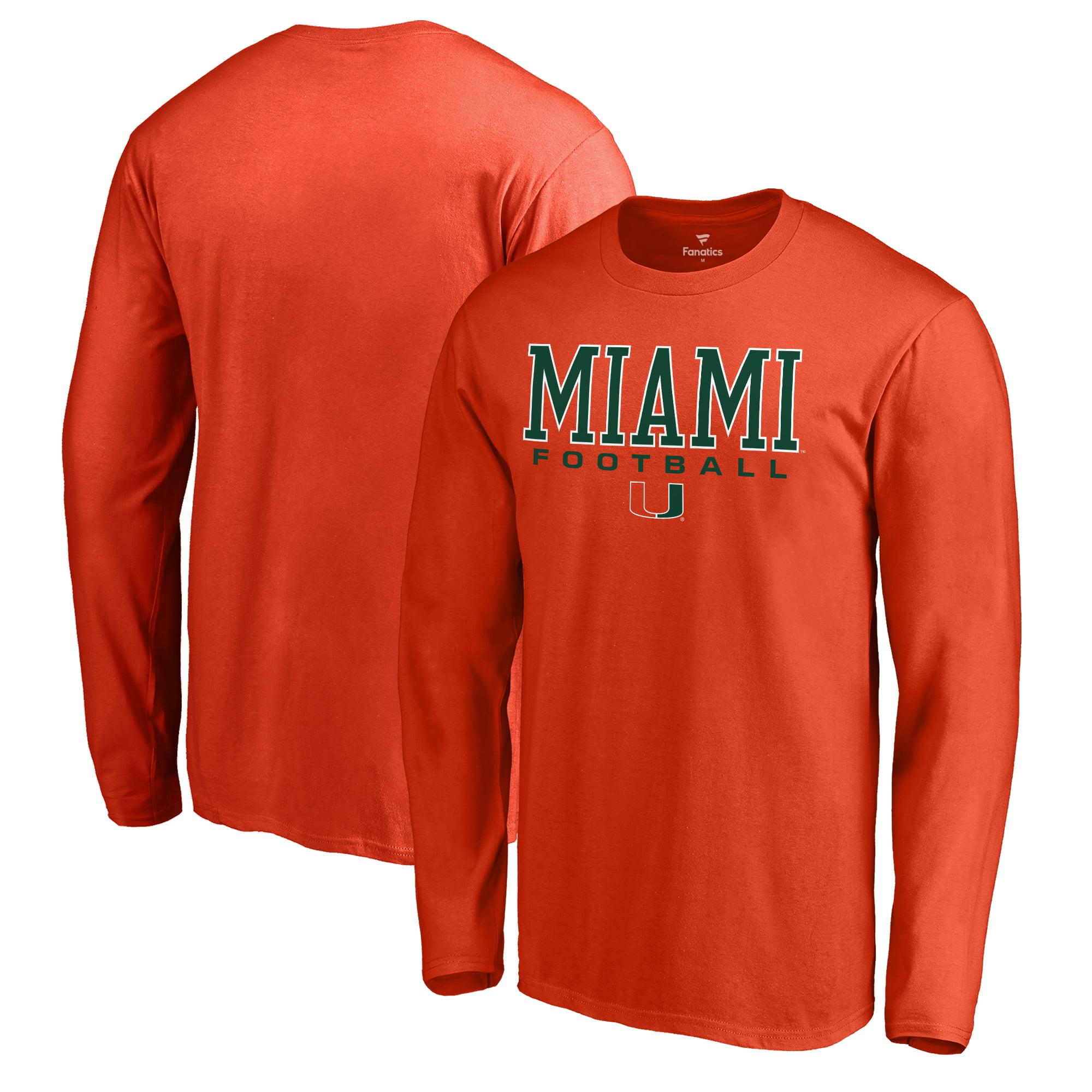 97c9bc2c0ae Miami Hurricanes Fanatics Branded True Sport Football Long Sleeve T-Shirt -  Orange