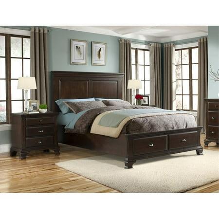 Picket House Furnishings Brinley 3 Piece Queen Bedroom Set in Cherry