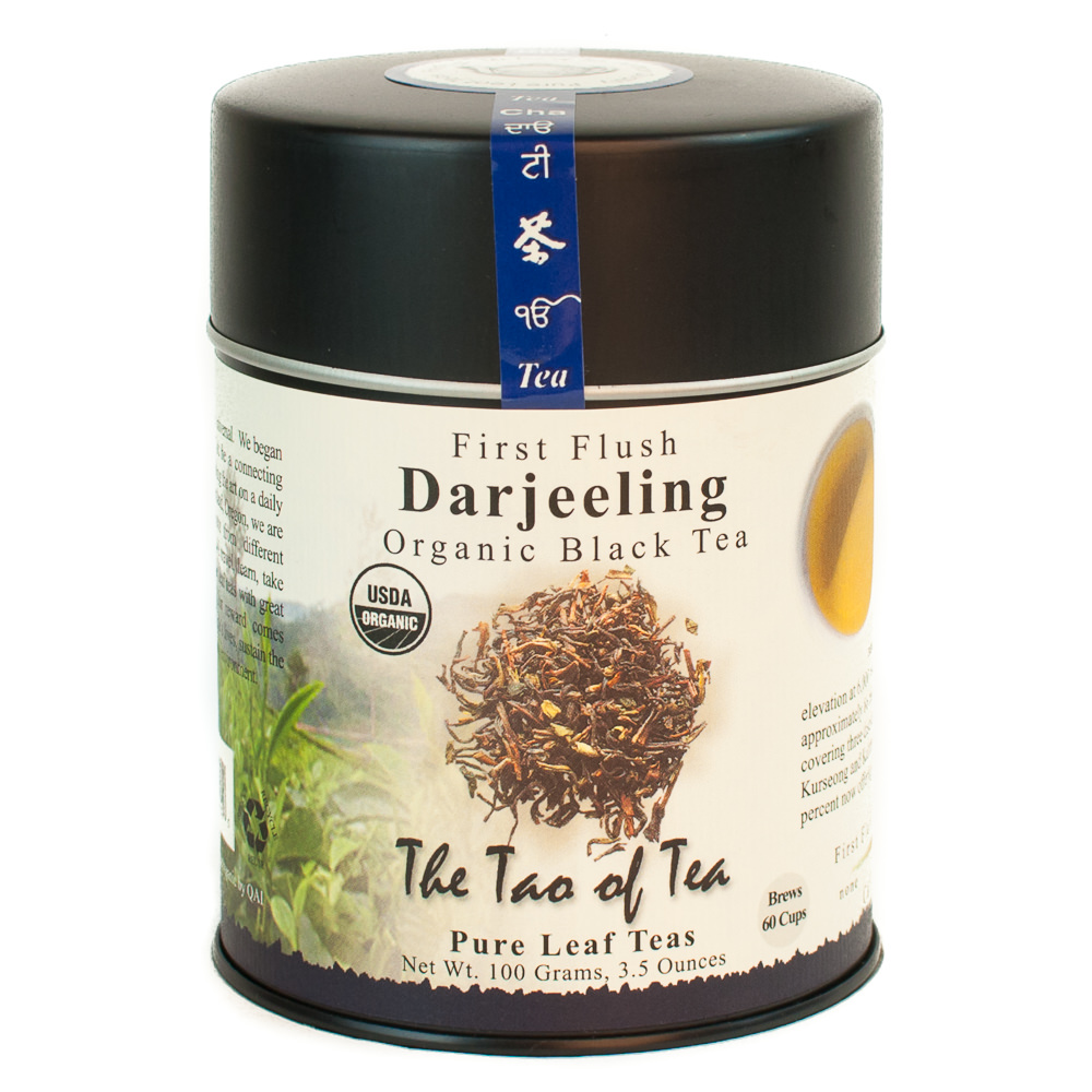 The Tao of Tea, Organic First Flush Darjeeling Tea, Lose Leaf Tea, 3.5 Oz Tin