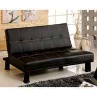 Product Image Venetian Worldwide Quinn Faux Leather Futon Sofa Black