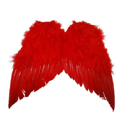 Adult Cupid Angel Devil Wings Feathers Red 13
