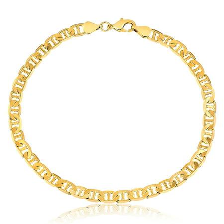 18K Gold Plated Gold Gucci-Link Anklet ()