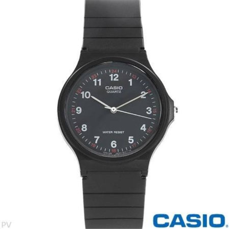 Casio MQ24-1B 3-Hand Analog Water Resistant (White Dial Water Resistant Watch)