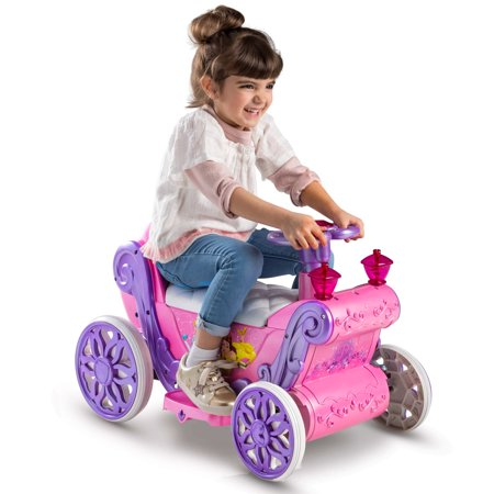 Disney Princess Girls' 6V Battery-Powered Ride-On Quad Toy by Huffy