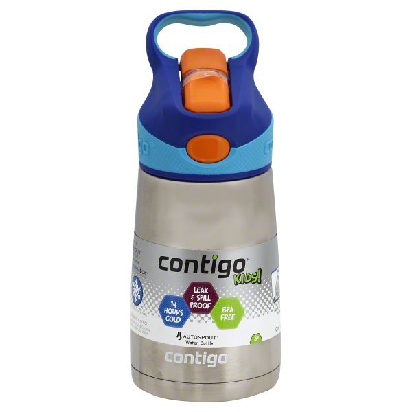Contigo Kids 10 oz Striker Chill No Spill Thistle Water Bottle, 1 bottle