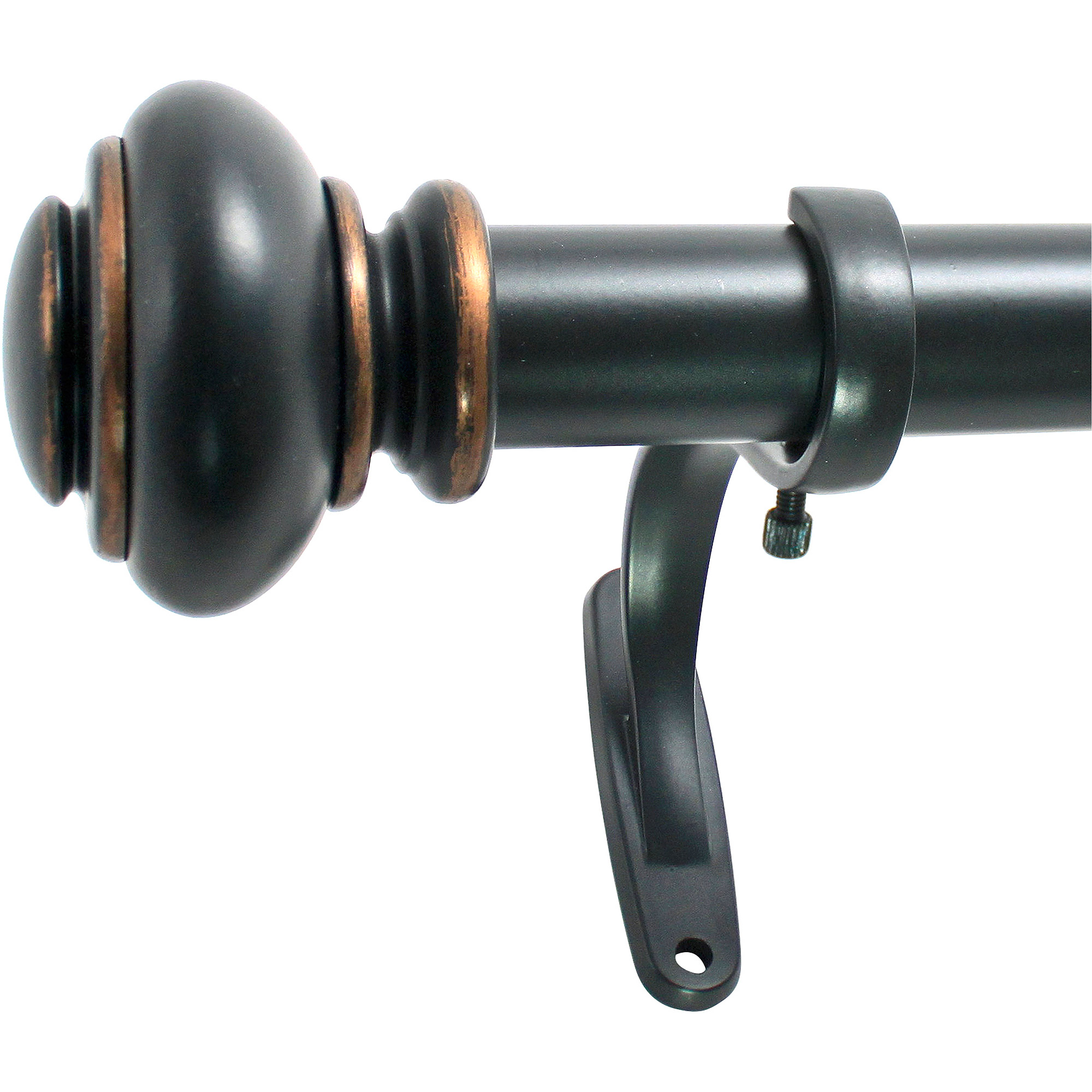 Decopolitan 1 Inch Urn Curtain Rod Set
