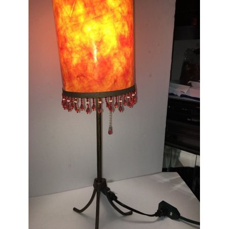 """Table Lamp-Old Fashion Pull Chain-23"""" High-ANTIQUE Metal Finish-Very Rare/Unique"""