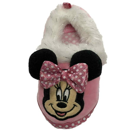 Disney Mickey Mouse Toddler Girls Pink Dot Minnie Mouse Loafers Slippers](Disney Slippers)
