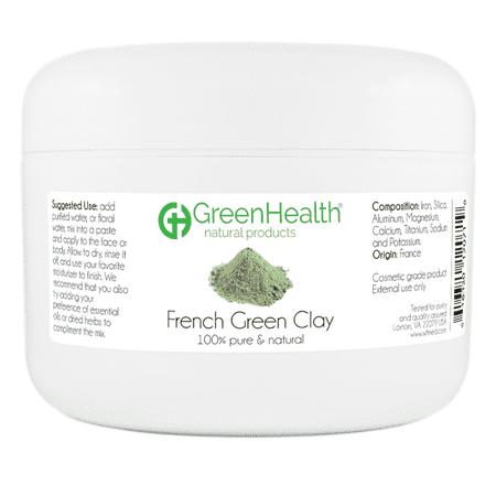 French Green Clay 6 oz Plastic Jar ()