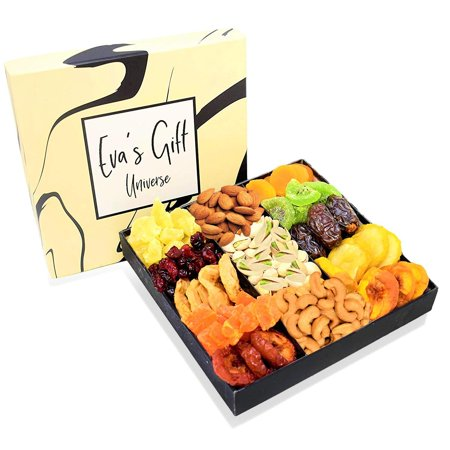 Holiday Nut & Dried Fruit Gift Basket, Healthy Snacks Box Gourmet Christmas Food Gifts Tray, Prime Delivery Mothers Fathers Valentines Easter Day, Men/Women, Mom, Dad Corporate Baskets for