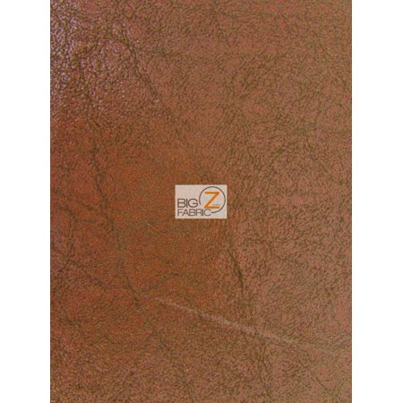 Vinyl Faux Fake Leather Pleather 2 Tone Distressed Granum Pvc Fabric Russet Sold By