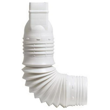 Articulated Spout (Amerimax Home Products 2x3 White Downspout Adapter ADP53229)