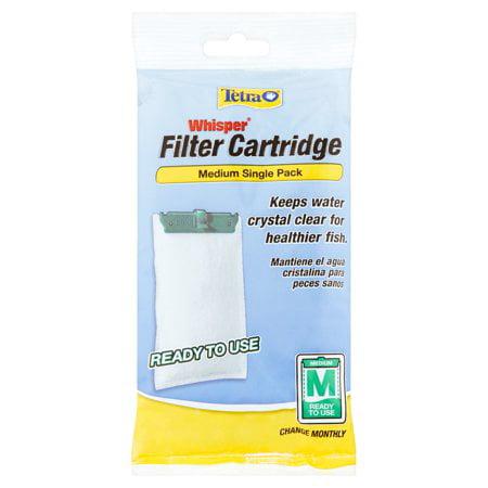 Tetra Whisper Filter Cartridge Medium, Ready To Use- (3) Single Count Value