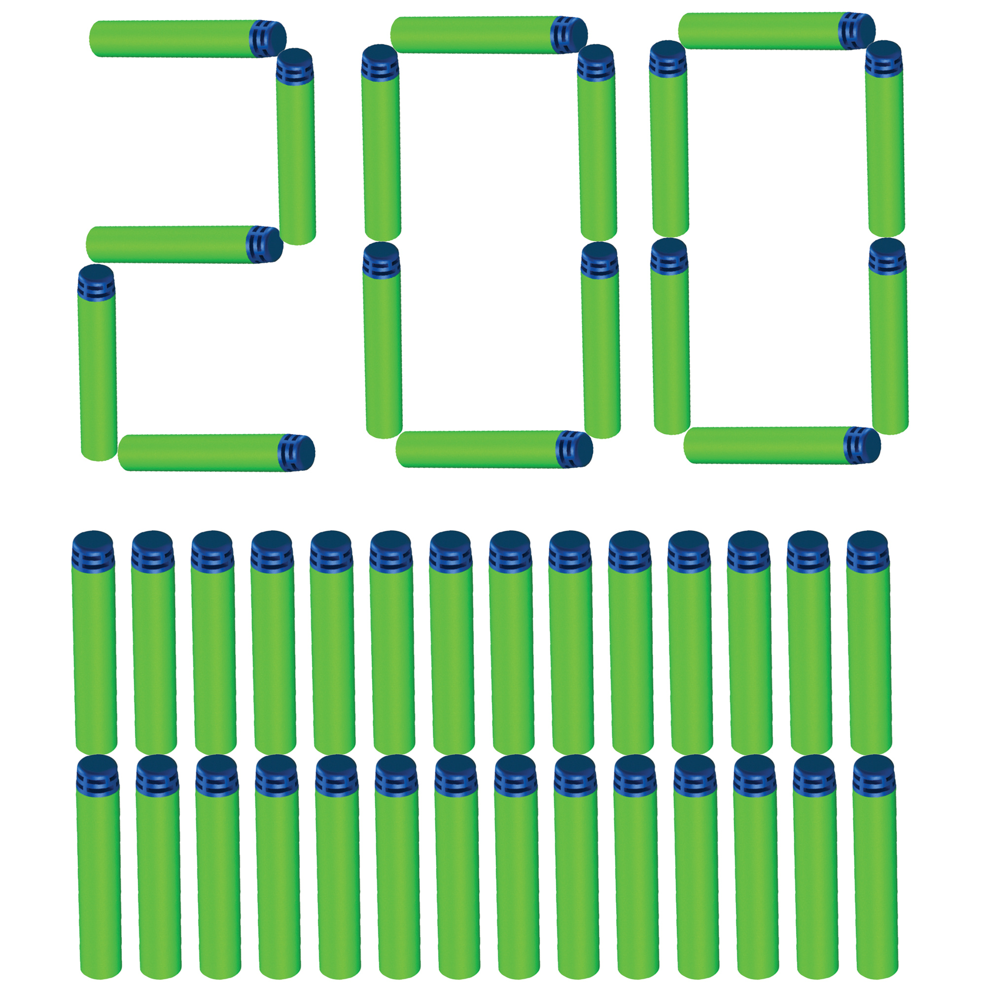 Adventure Force 200-Dart Refill - Works with All Adventure Force Blasters and most Standard NERF Elite Blasters