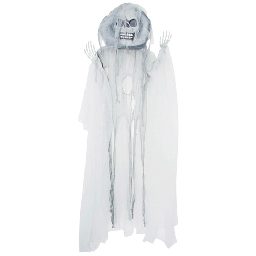 7' Hanging White Halloween Reaper