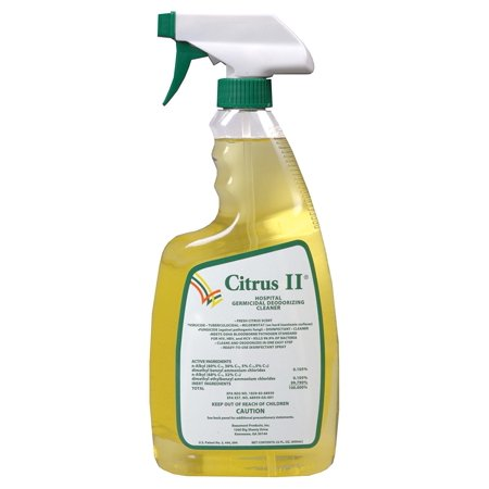 Citrus II Hospital Germicidal Deodorizing Cleaner with Trigger Spray, 22 Fluid Ounce