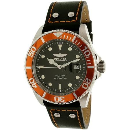 Invicta Men's 22071 Pro Diver Quartz 3 Hand Black Dial Watch