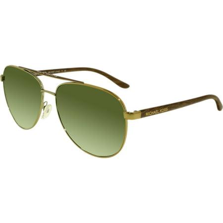 MICHAEL KORS Sunglasses MK 5007 10432L Gold Wood (Gold And Wood Sunglasses)