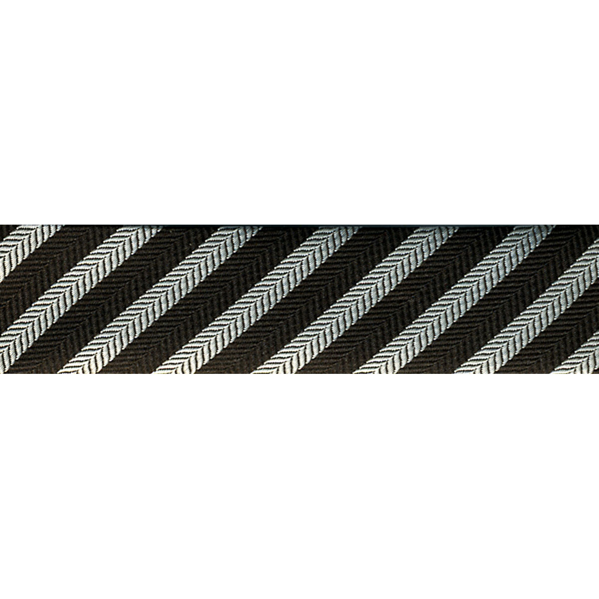 Novelty Fashion Bias 20mm X 22 Yards-Black/Silver Stripe