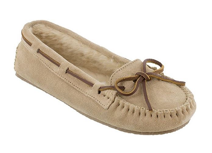 Minnetonka Womens Cally Moccasin Slipper Stone Size 6 4018-STONE-6 by