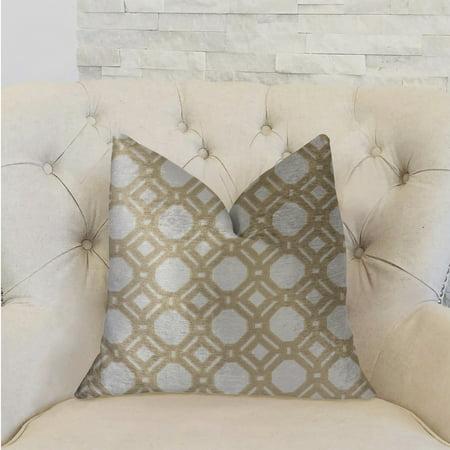 Plutus PBRA2245-2026-DP Medallion Eclipse Luxury Double Sided Throw Pillow, Beige & Gray - Standard - image 2 de 3