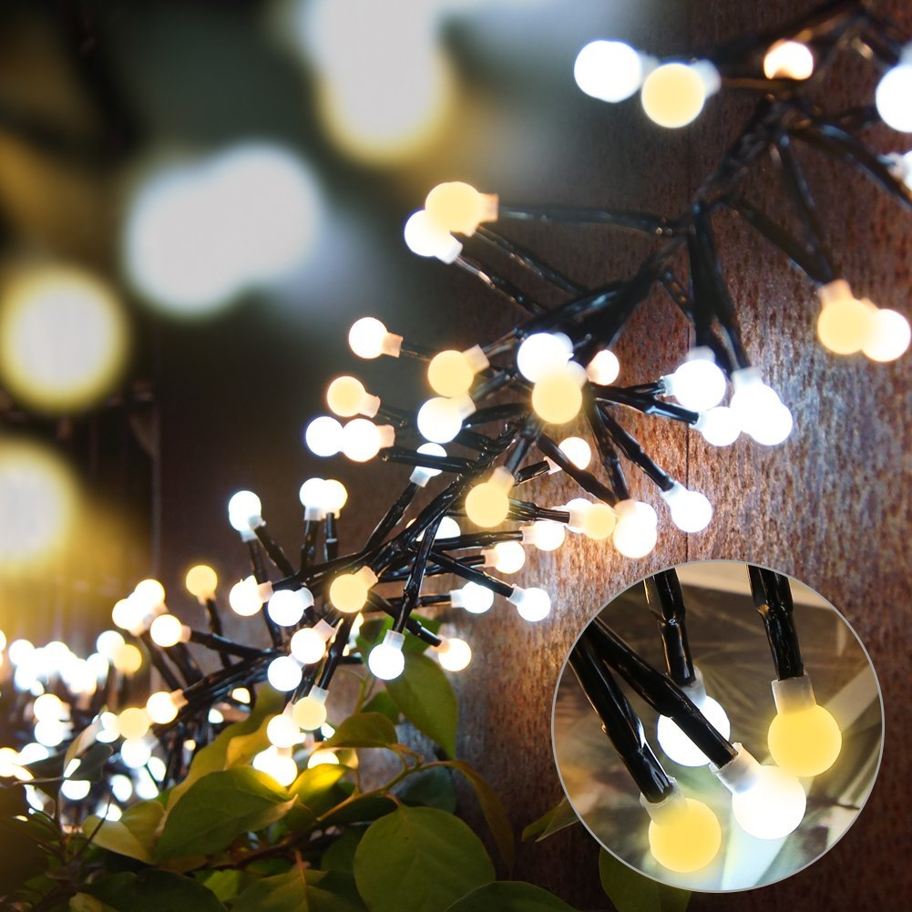 LED String Lights 9.8 ft 400 LEDs Waterproof Fairy Lights with 8 Lighting Modes for Bedroom Garden Party Patio Bistro Market Cafe ( Warm White )