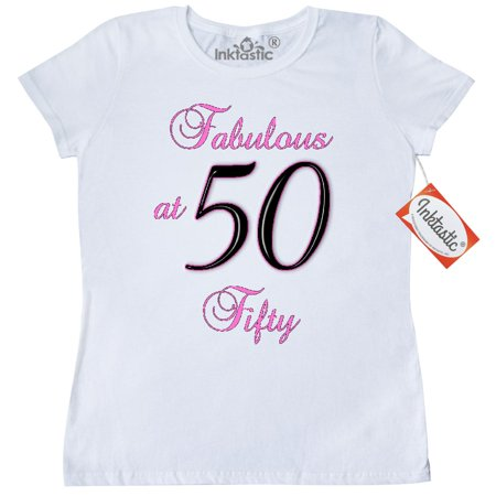 Inktastic Fabulous At 50 Women's T-Shirt Im Milestone Birthday Fifty 50th Clothing Apparel Tees Adult - 50 Clothes