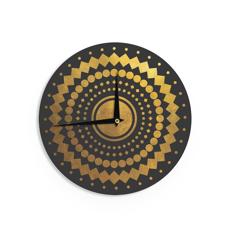 Kess InHouse Graham Curran All Aboard Teal Wall Clock 12