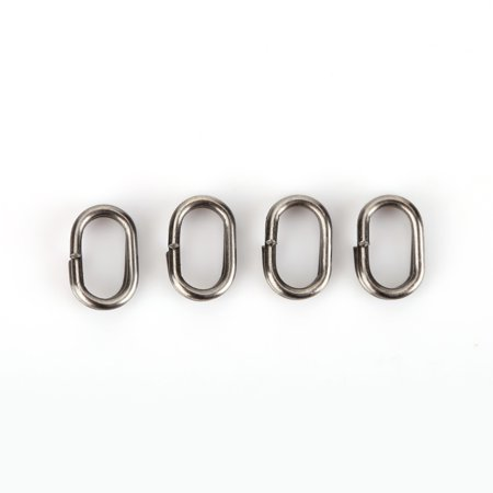 Hilitand 100Pcs Stainless Steel Oval Split Rings Swivel Snap Carp Fishing Tackle Connector