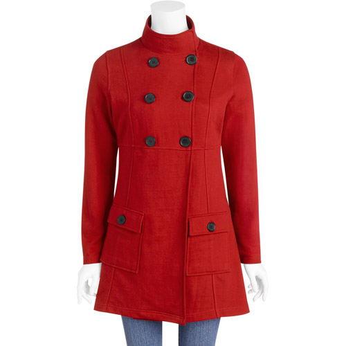 Women's French Terry Peacoat Jacket