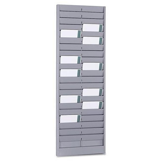 SteelMaster 20401 8.12 x 23.12 in. Steel Swipe Card or Badge Rack - Gray, 40 Pocket