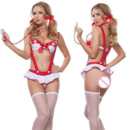 ecf38b166302 Christmas Women Sexy Nurse uniform Underwear Suit Temptation Underwear -  Walmart.com