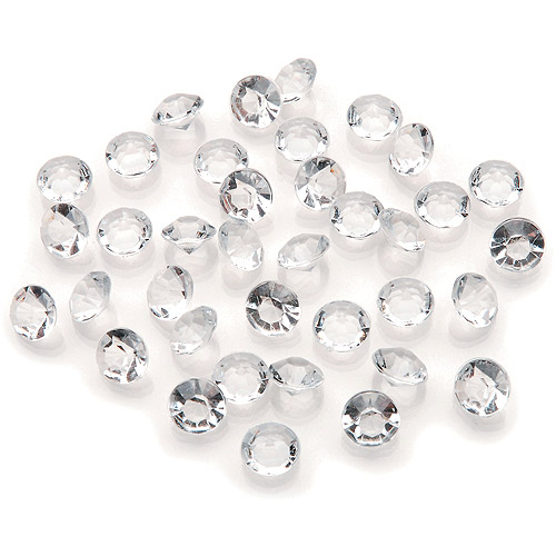 Darice Diamond Ice Gems, 8mm/4 Carat, Clear, 800/pkg