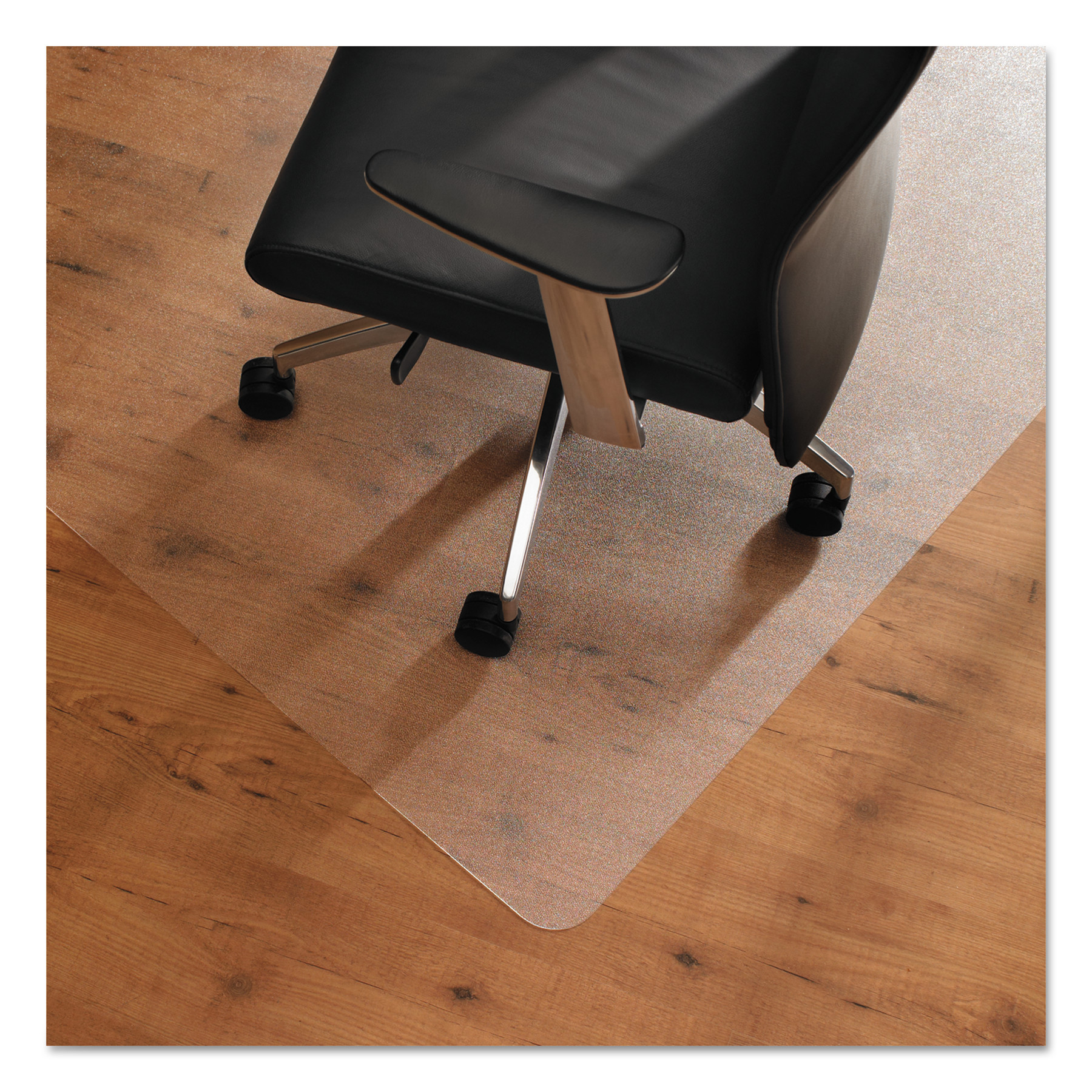 Floortex Cleartex Ultimat Anti-Slip Chair Mat for Hard Floors, 48 x 53, Clear