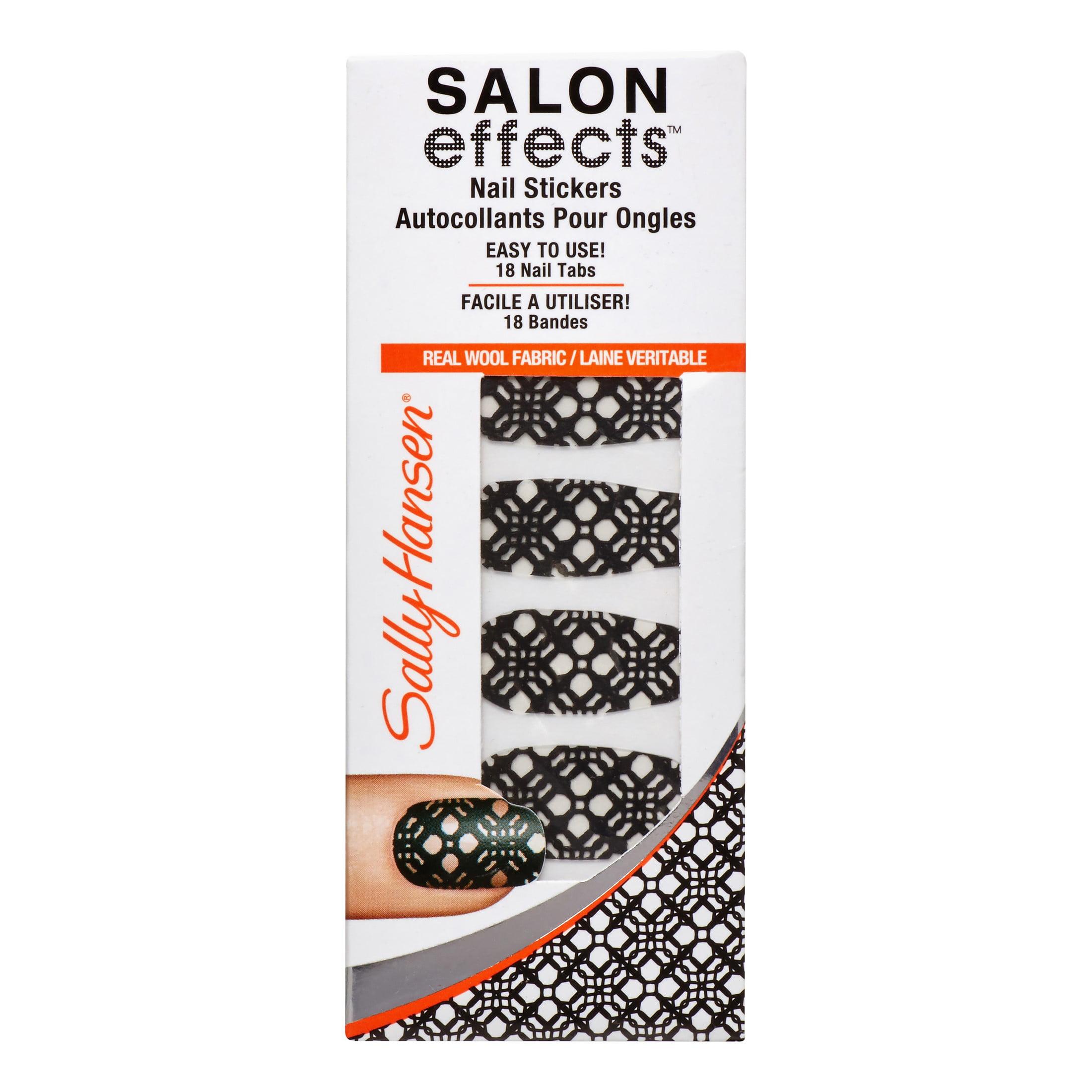 Sally Hansen Salon Effects Nail Stickers, Black to Basic, 12 ea    Walmart.com