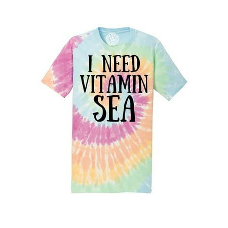 I Need Vitamin Sea Ocean Vacation Tie Dye Mens and Womens Tee Shirt