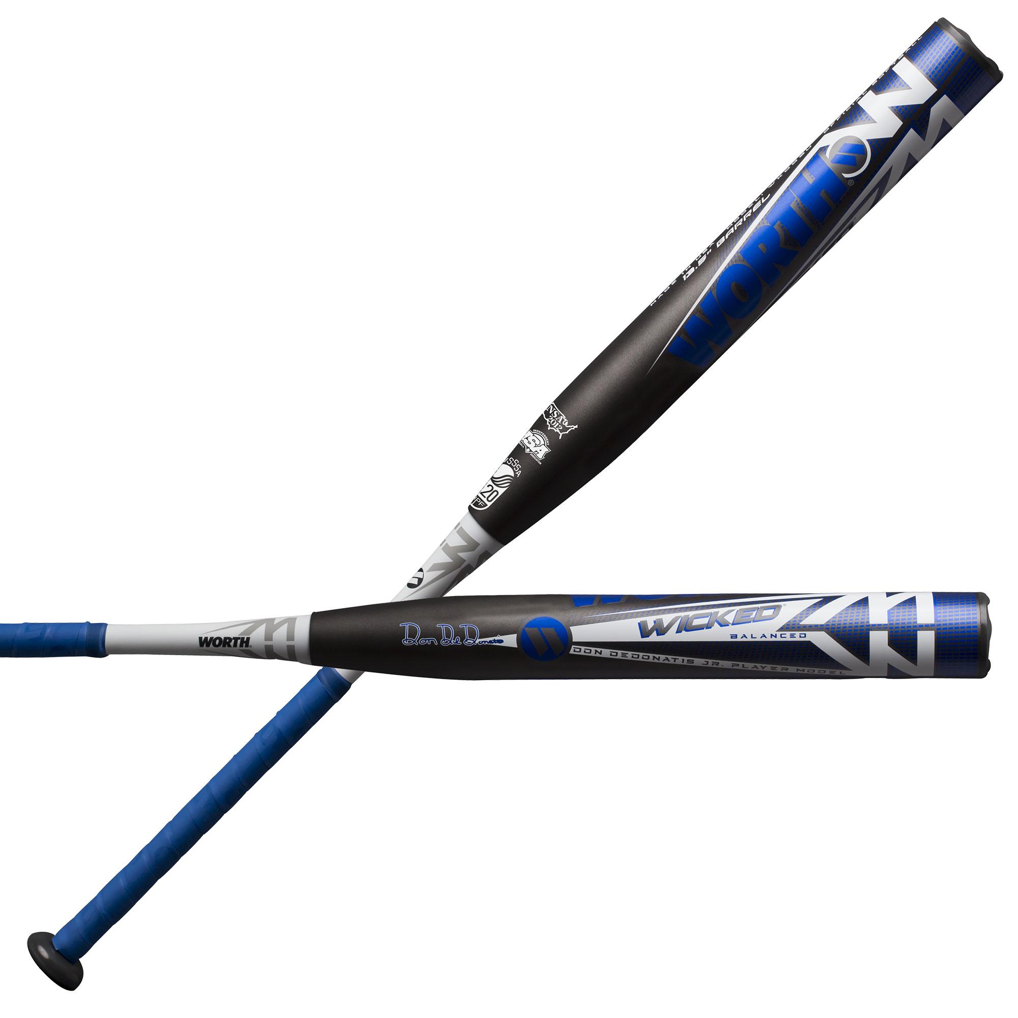 Worth Wicked Balanced Don DeDonatis USSSA WKDDBU Slowpitch Softball Bat