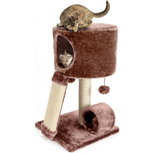 Cat Craft Cat Condo Perch, Brown
