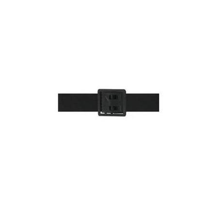 Gems Manufacturing Systems 940040611 44 in. Elastic Buckle & Tip Army Belt for Men, Black](Jewel Belt)