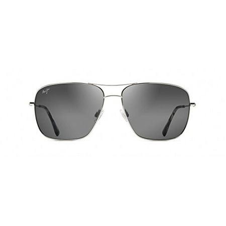Maui Jim Sunglasses Silver Shiny/Grey Titanium - Polarized - (Maui Jim Titanium Sunglasses)