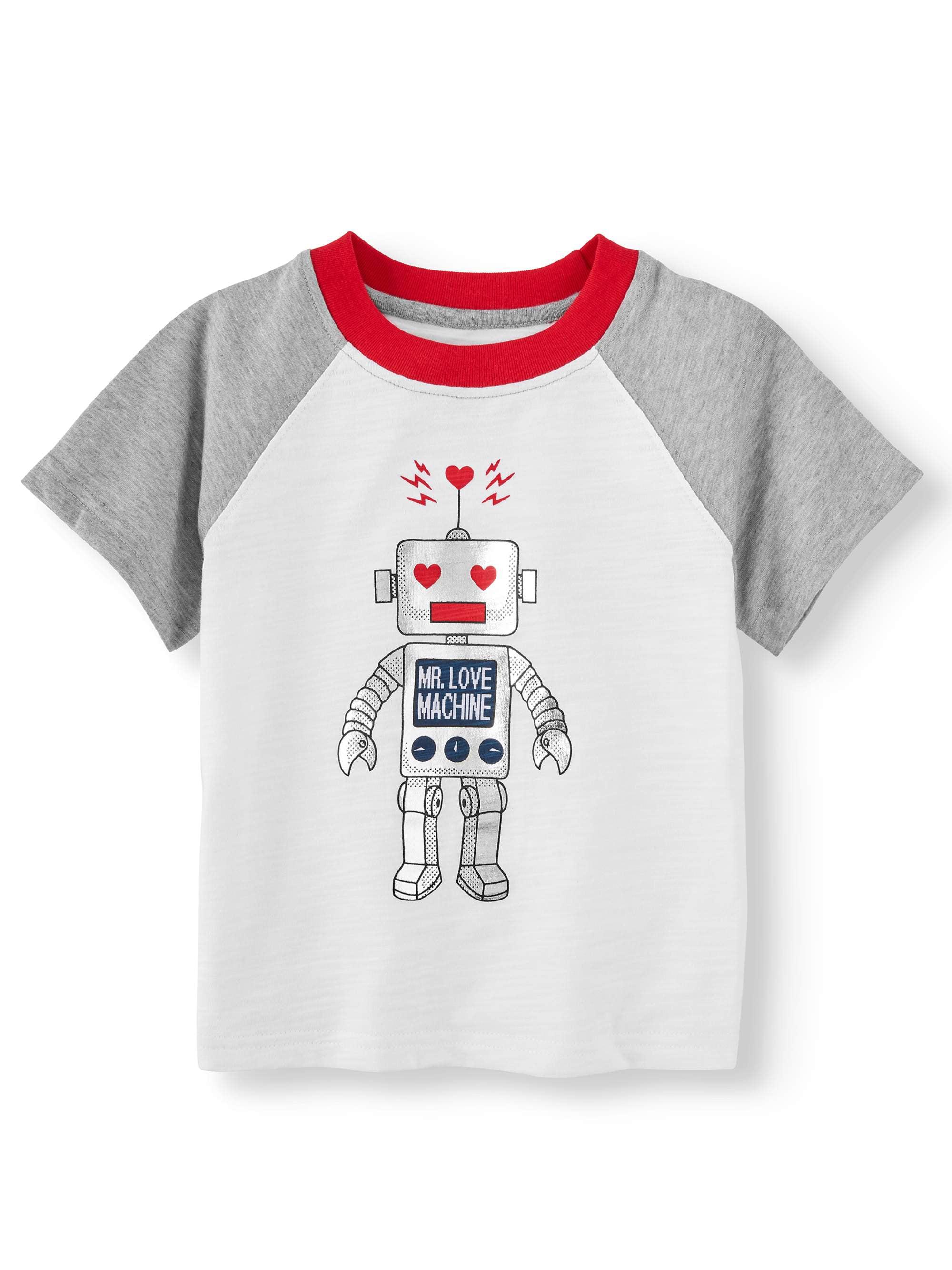 cdc474d67 Valentine's Day - Short Sleeve Raglan Graphic T-shirt (Toddler Boys) -  Walmart.com