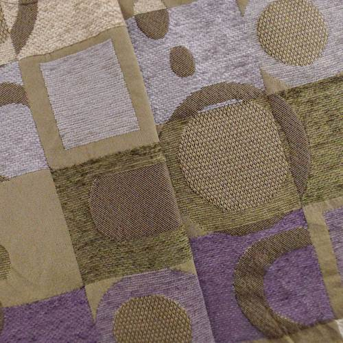 Brown/Purple Chenille Geometric Jacquard Home Decorating Fabric, Fabric By the Yard