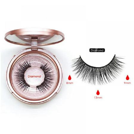 Velocity Women Magnetic False Eyelashes Natural Eyelashes Extension Liquid Eyeliner And Tweezer For All Skin Types