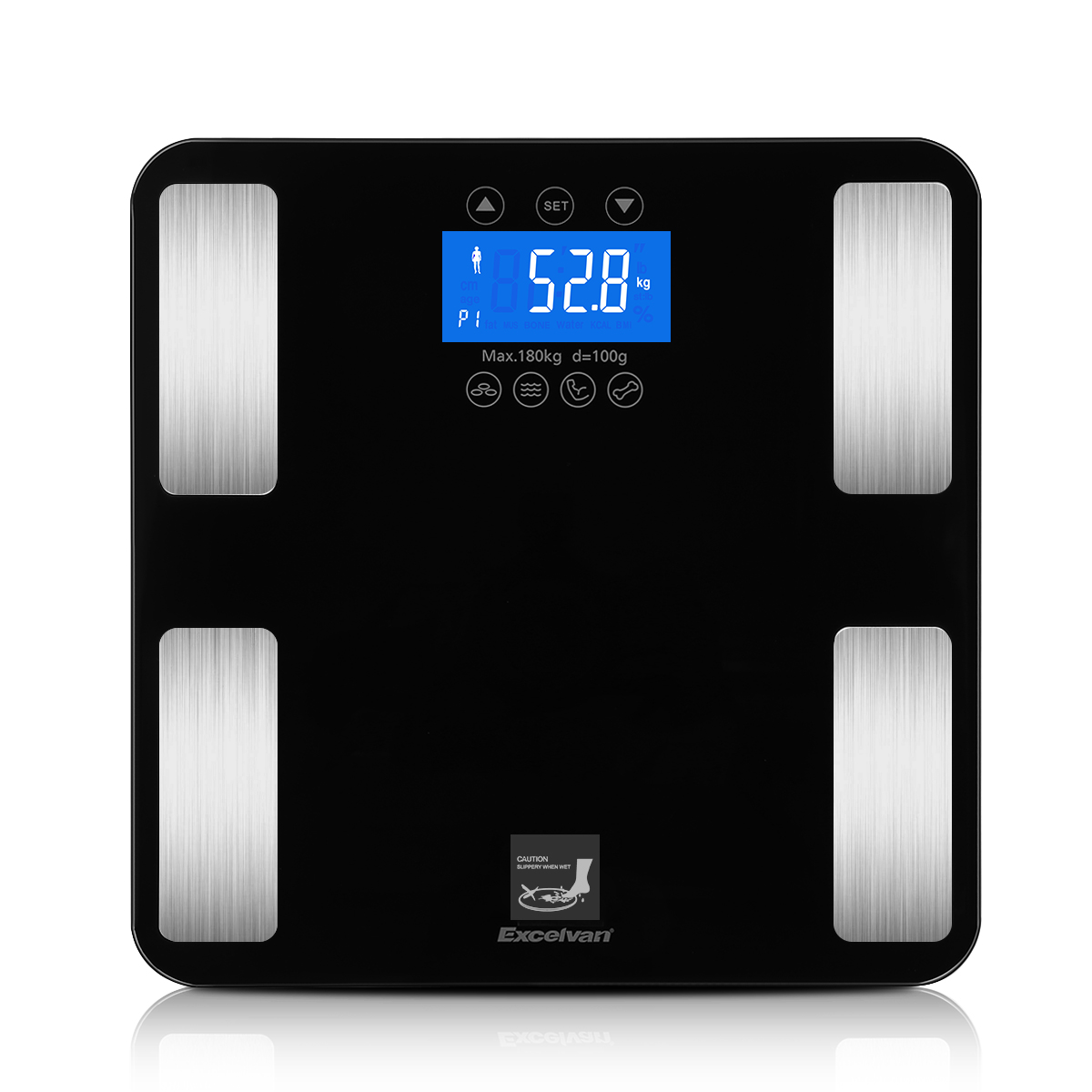 Bmi bathroom scales - Excelvan Touch 400 Lb Digital Body Fat Scale Body Weight Bmi Fat Water Calories Muscle Bone Mass Scale Walmart Com