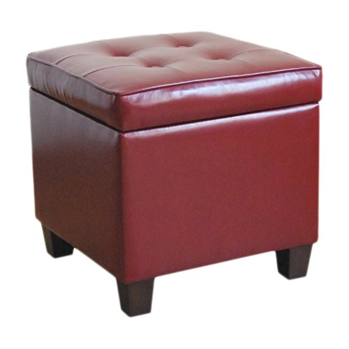 HomePop Square Tufted Storage Ottoman, Multiple Colors